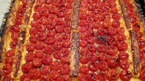 Recette de Tarte aux tomates cerise