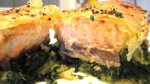 Recette de brick au saumon