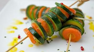 Recette de Brochette de légumes