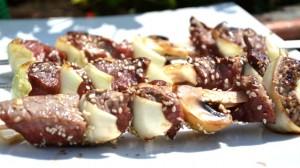 Recette de Brochettes de bœuf aux graines de sésame