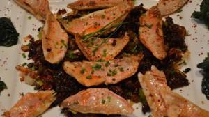 Recette de Filet de rouget à la compote de tomates séchées