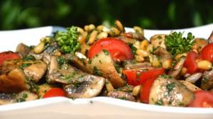 Recette de Salade aux champignons