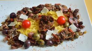 Recette de Tagliatelles aux olives