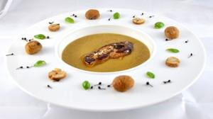 Recette de Velouté de châtaignes et foie gras