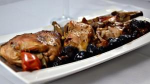Recette de Lapin aux olives noirs