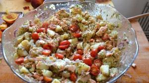Recette de Salade de saumon