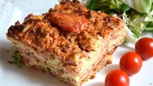 Recette de Lasagne au poulet et champignons