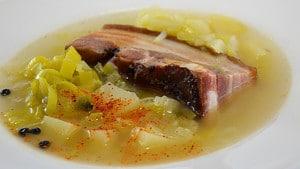 Recette de Soupe au lard
