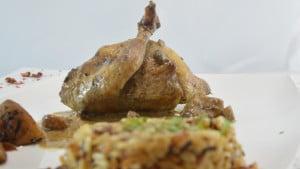 Recette de Cailles farcies aux marrons et foie gras