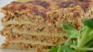Recette de Lasagnes au jambon et poulet