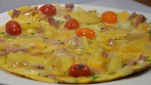 Recette de Omelette aux oignons et jambon